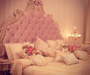 pink, bedroom, and home image
