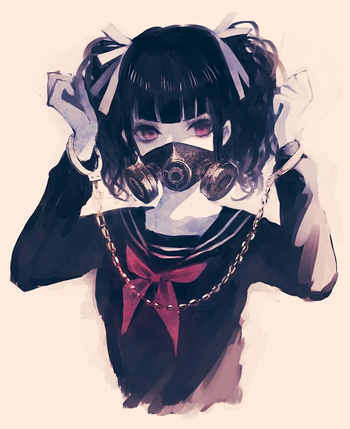Anime Boy Original Black Hair Short Hair Horns Demon Red Eyes Photo By Celestialsea Photobucket