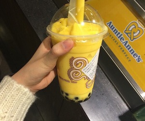 yellow, aesthetic, and drink image
