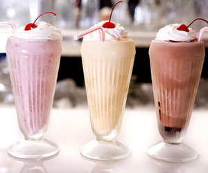 milkshake, food, and chocolate image