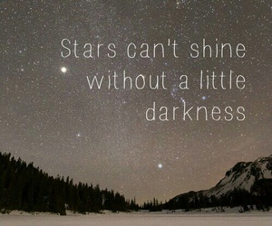 night, phrases, and stars image