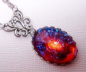 galaxy, geekery, and statement necklace image