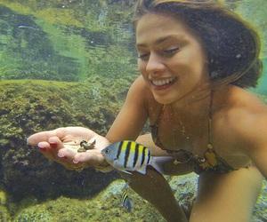 fish, girl, and summer image