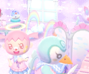 animal crossing and pastel image