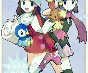 dawn, pokemon, and hikari image