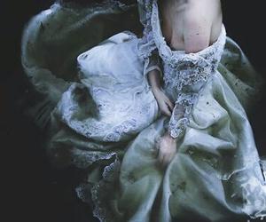 dress, water, and dark image