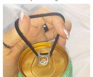 life hack, soda, and acrylic nails image