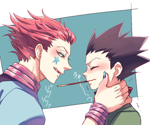 gon, hisoka, and hunterxhunter image