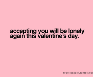 lonely, pink, and Valentine's Day image