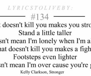 kelly clarkson, song, and Stronger image