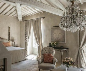 bedroom, home, and chandelier image