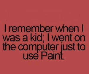 kids, computer, and paint image
