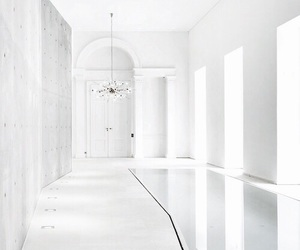 white, interior, and house image