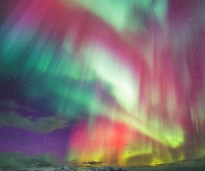 northern lights and space image