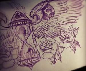 art, ange, and rose image