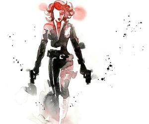 black widow, Avengers, and art image