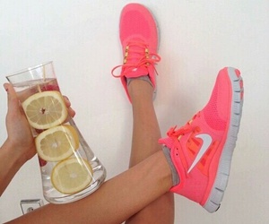 nike, pink, and water image