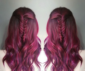 fuchsia, fucsia, and hair idea image
