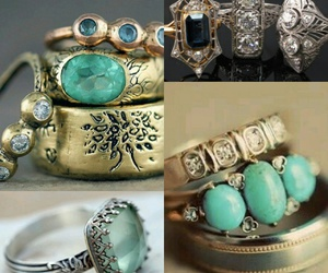 jewerly, vintage, and rings image