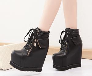beautiful, black shoes, and fashion image