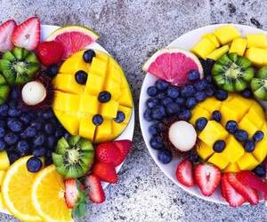 food, colors, and fitness image