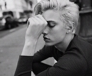 lucky blue smith, boy, and black and white image
