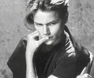 80s, actor, and b&w image