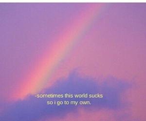 grunge, rainbow, and life image