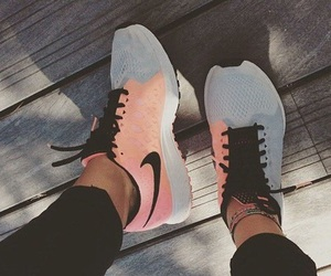 athletic, coral, and nike image