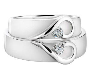 heart, rings, and wedding image