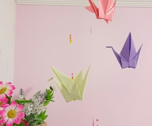 color, origamis, and decor image