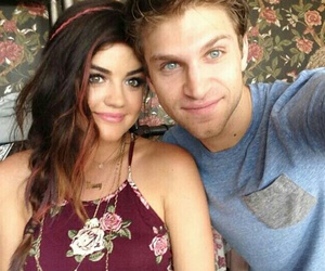 pretty little liars, lucy hale, and keegan allen image
