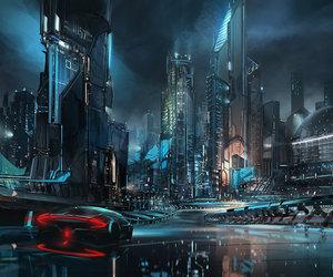art, city, and future image