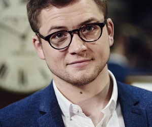 taron egerton, kingsman, and eddie the eagle image
