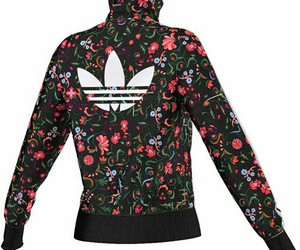 adidas, clothes, and flowers image