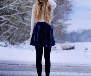 fashion, winter, and skirt image