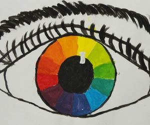 color wheel, colors, and eye image