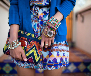 fashion, blue, and colors image
