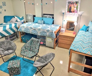 college, home goals, and dorm rooms image