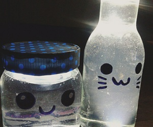 bottles, kawaii, and lamp image