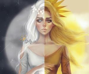 girl, girly_m, and sun image