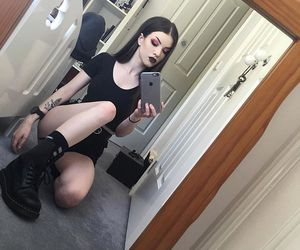dyed hair, goth, and alternative image