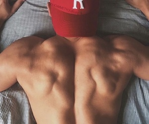 boy, red, and fitnes image