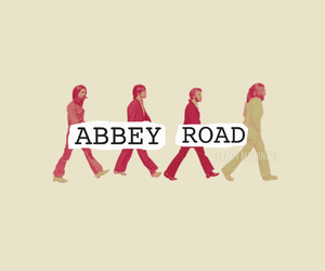 abbey road, john lennon, and Paul McCartney image