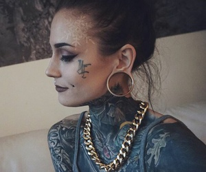 dope, girl, and tattoo image