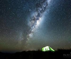 camping, green, and night image
