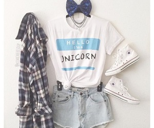 fashion, outfit, and unicorn image