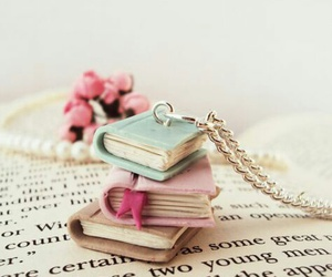 books, pink, and vintage image