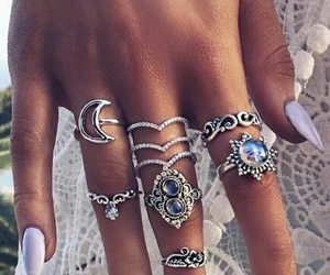 boho, rings, and silver image