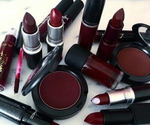makeup, red, and mac image